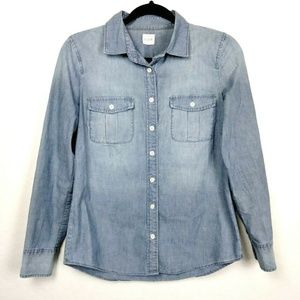 J.Crew Factory The Perfect Shirt Chambray